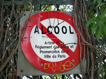 sign obey verbot alkohol