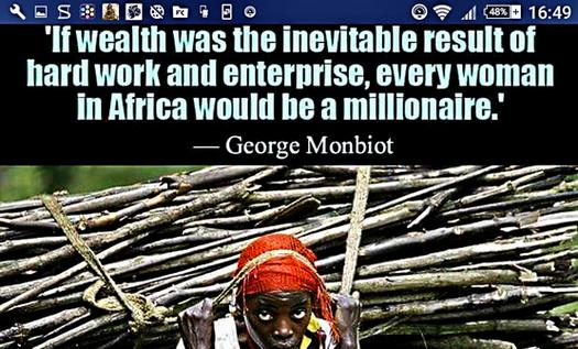 wealth afrika georg monbiot millionär enterprise wood hands